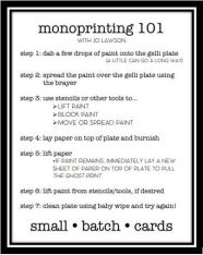 monoprinting 101 instructions